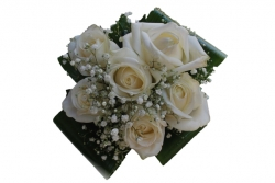 bouquet rosas blancas civil